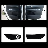4pcs Fabric Door Protection Mats Anti kick Decorative Pads For Peugeot 3008 2013 2015