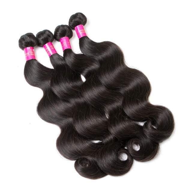 placeholder She Hair Peruvian Virgin Hair Body Wave Hair Weave 4 pcs 8-30  inch Peruvian