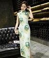Traditional Chinese Dress Women's Velour Long Cheongsam Qipao Sexy Evening Dress Size S M L XL XXL