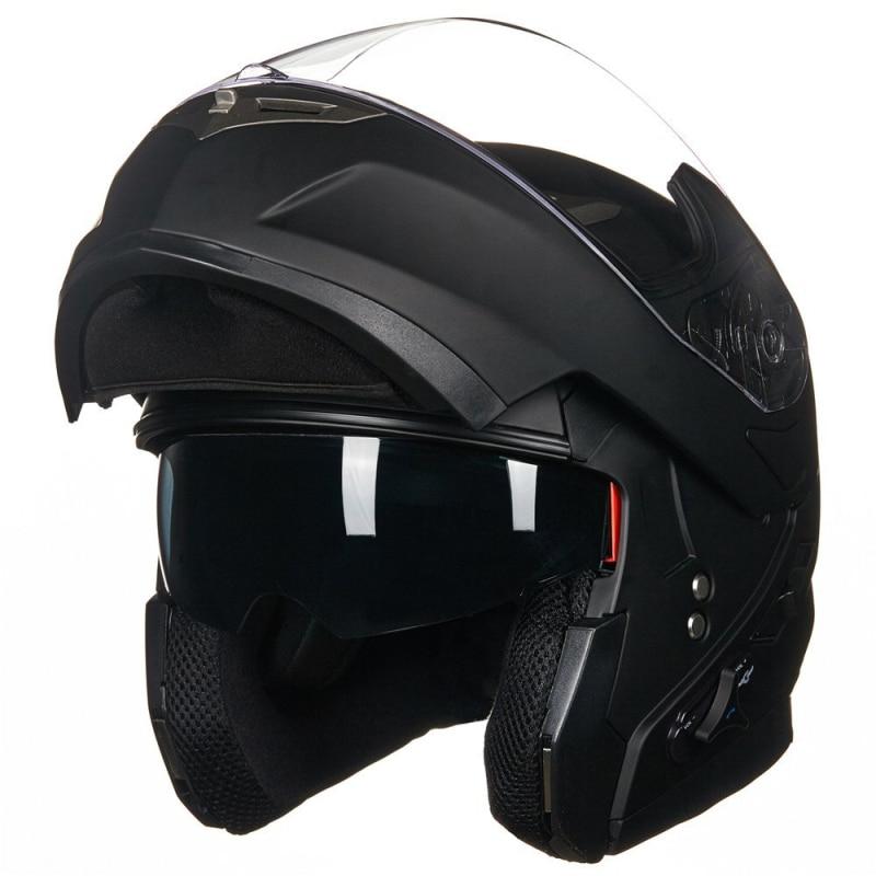 Ilm Bluetooth Integrated Modular Flip Up Full Face Motorcycle Helmet