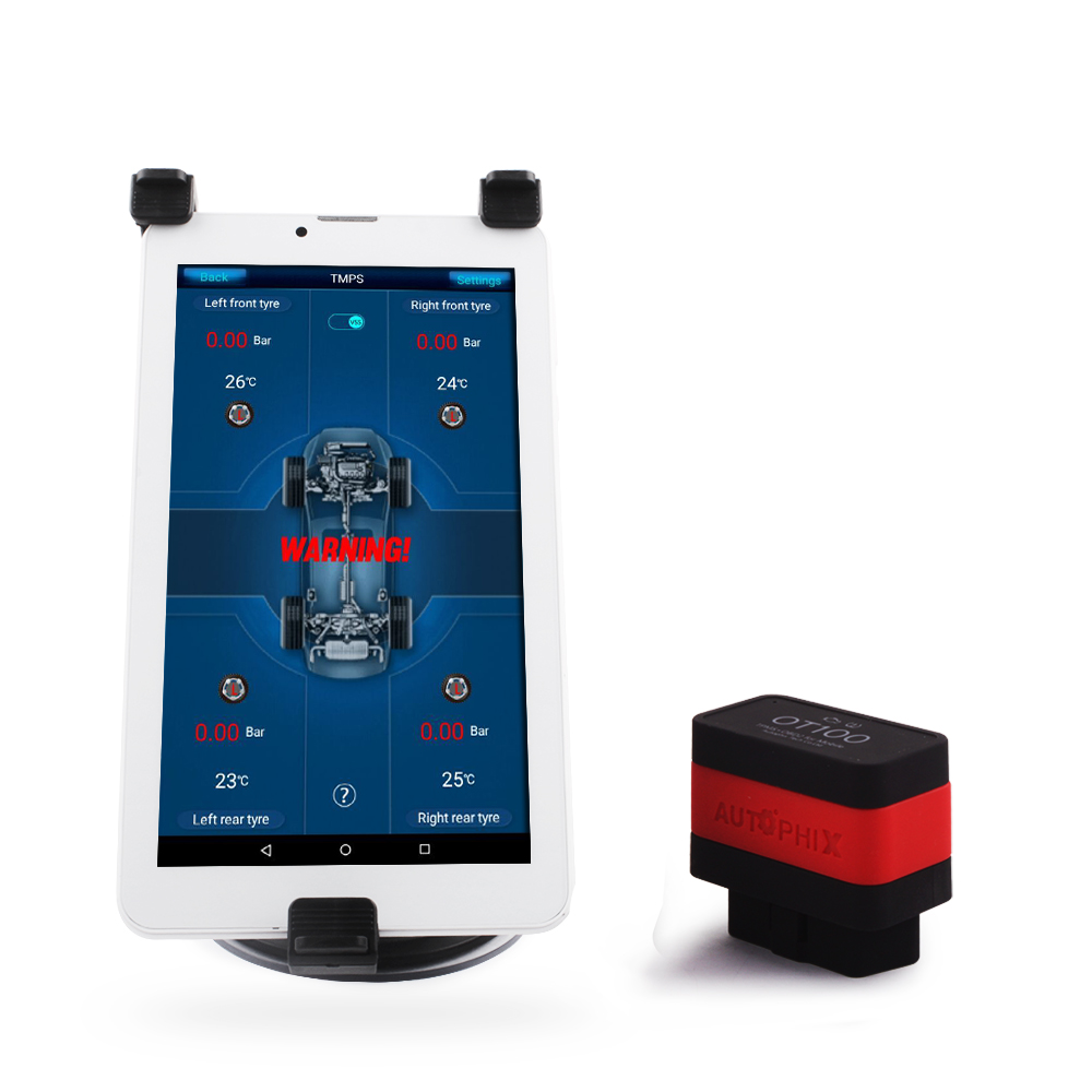 Tire Pressure Alarm Security Car TPMS Monitoring System with Read Clear Fault Codes OBD2 Scanner Use on Android System OT100 tpms tp620 car tire tire pressure alarm car tire diagnostic tool support bar and psi tire pressure monitor car electronics