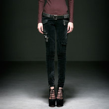 New Arrival Mens Gothic Punk Fashion Women Corduroy Pants Slim Fit Street Fashion Tight Pants Casual Pencil Pants Trousers