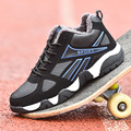 2017 Invierno de la Marca de Los Hombres Zapatos Casuales Zapatos Masculinos Para Hombres Krasovki Entrenadores Gumshoe Valentine Zapatos de Piel de Nieve Calzado Pisos Aire X157