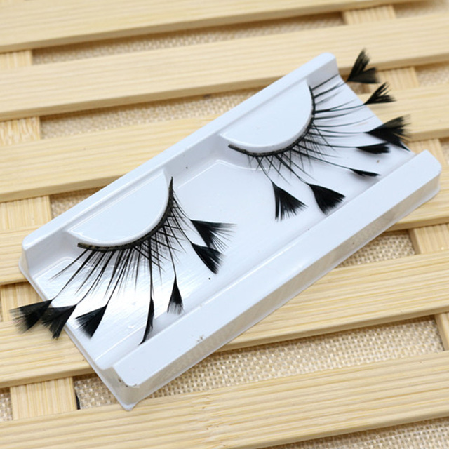 1 Pair Masquerade Stage Charming False Eyelash Art Artificial Feather Soft Makeup Party Fashion Exaggerated Tool Long Reusable 5