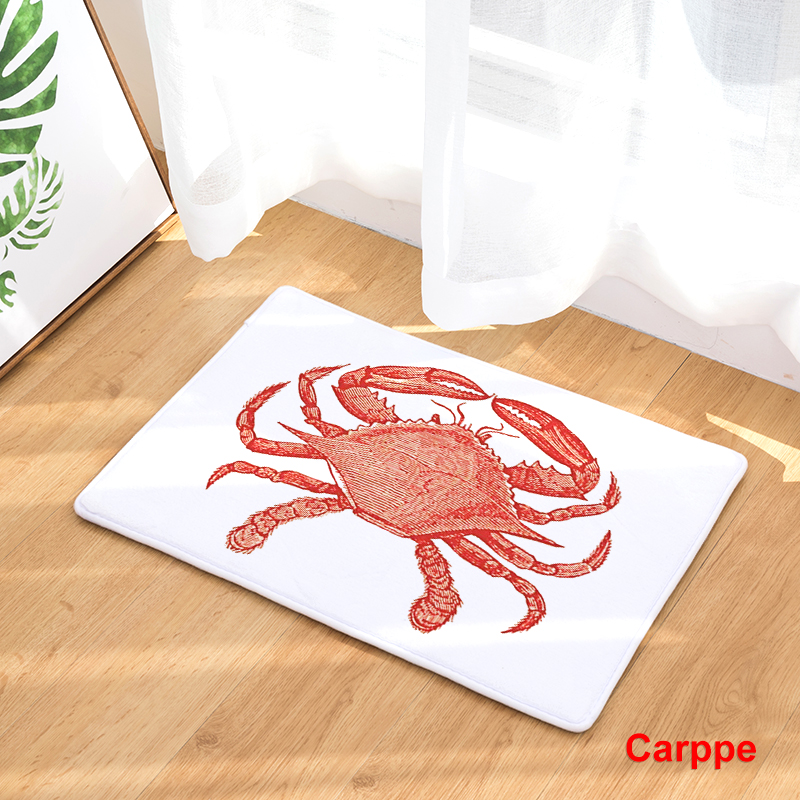 2017 new home decor marine animals crab turtle carpets non slip kitchen rugs for home living - Rugs and home decor decor ...