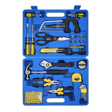 45-in-1 TM-2096 Hand Tool Set With Saw Screwdriver Hammer Pliers Utility Knife Measuring Tape Wrench Multifunction Tool Kit Sale