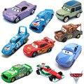 5 Estilos Pixar Cars 2 100% Original Rayo McQueen Chica Hicks Diecast Metal de la Aleación Modelo de Coche Multicolor Niños Presentes juguetes