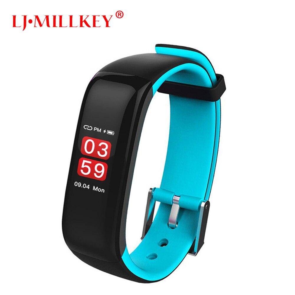 Nouveau Bracelet écran couleur pression artérielle oxygène moniteur de fréquence cardiaque Bracelet Sport Fitness Tracker bande intelligente PK M2