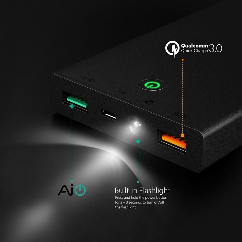 Banco do Poder de carga portátil de bateria Interface de Saída : Dual USB