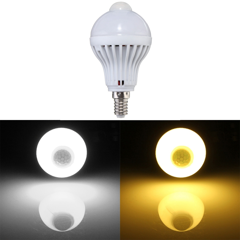 Auto Smart 2835 SMD 18 LED Lamp Bulb E14 3W 240lm PIR Motion Sensor LED Light Lamp Bulb 220V Energy Saving Motion Sensor Light