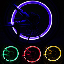 1pcs Bicycle Wheel Tire Valve Caps Lights LED Cycling Spokes Lantern Bike Lamp Bicycle Accessories Color blue Green Pink Yellow bicycle accessories spoke lights cycling bike wheel lights for bicycle decoration 6 pack batteries included glow caps on wheels