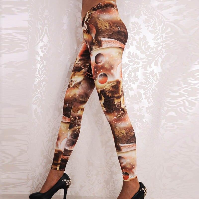 Wholesale Women Galaxy Planet Print Leggings Sexy Slim Casual Wear Leggings Gothic Creative Legging Fitness Feminina Academia