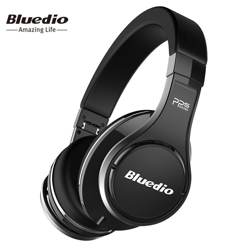 Bluedio U UFO Bluetooth headphones Patented 8 Drivers HiFi Over-Ear wireless with Mic bluedio u red