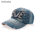 Brands NUZADA Women Girls Ladies Baseball Cap Fashion Classic Snapback Bone Hip Hop Hats Caps Rhinestones szm-039