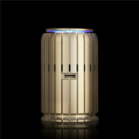 Mini Auto Car Fresh Air Ionic Purifier Oxygen Ozone Ionizer Cleaner Golden
