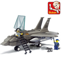 New 7200 SLUBAN Aircraft model building blocks Toys-F15 fighter Air Series bricks legoe compatible Enlighten Toys Children Gift