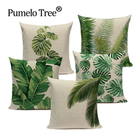 High Quality Cushion Covers Rainfore Ststyle  Plant Pillowcases On The Pillows Decorative  Custom  Sofa Cushion Cover For Room|Cushion Cover|Home & Garden -