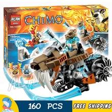 161pcs Worriz Strainor's Saber Cycle 10350 Figure Building Blocks Scout Flyer Frost Blader Kids