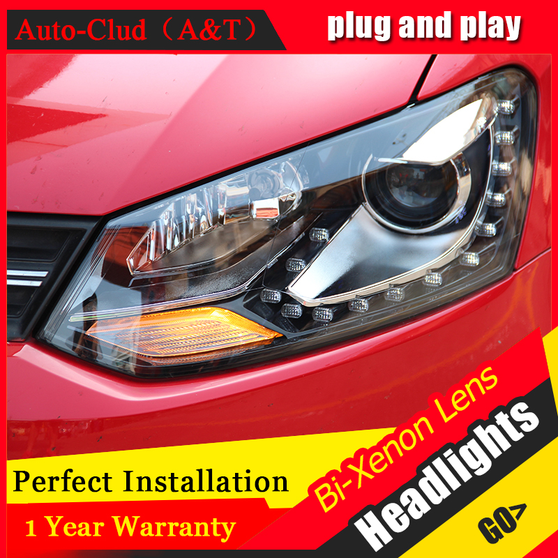 Auto Clud Style LED Head Lamp for VW Polo GTI led headlights 2011 2014 cross angel
