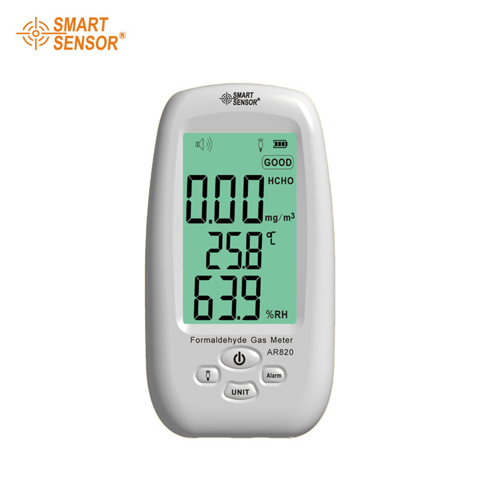 AR820 Formaldehyde Gas Detector Monitor With Sound Light Alarm Temperature Humidity Tester Measuring Range:0~5.0PPM 100w 220v ac dc insulated ptc ceramic air heater ptc heating element electric heater 113 35 26mm