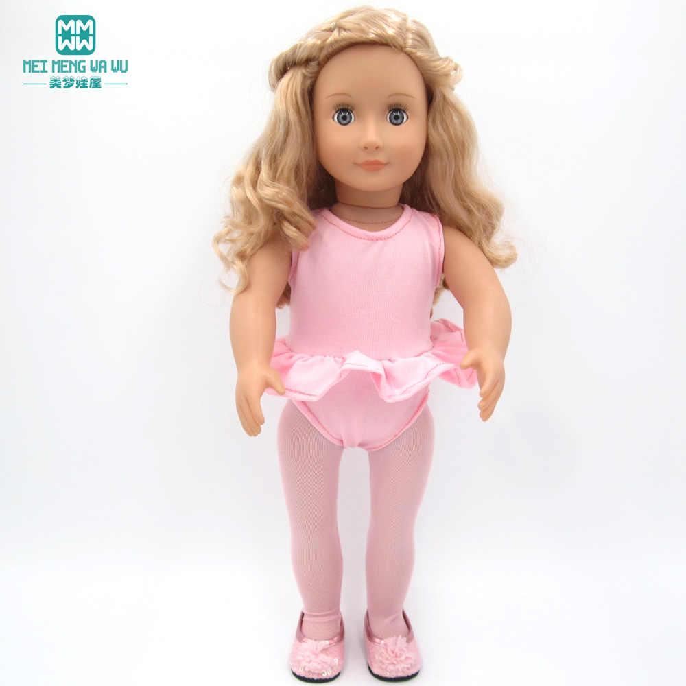 Oyuncak bebek giysileri için 17 inç 43 cm-45 cm bebek bebek ve American' Bebek Aksesuarları bale elbise bebek elbise moda mayo