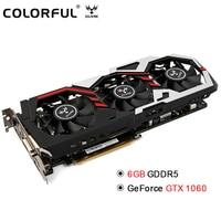 Original Colorful iGame1060 U 6GD5 Top 192bit GDDR5 Graphics Card 6GB GDDRS GeForce GTX 1060 with HDMI / DVI/ DP 1.4 Interface