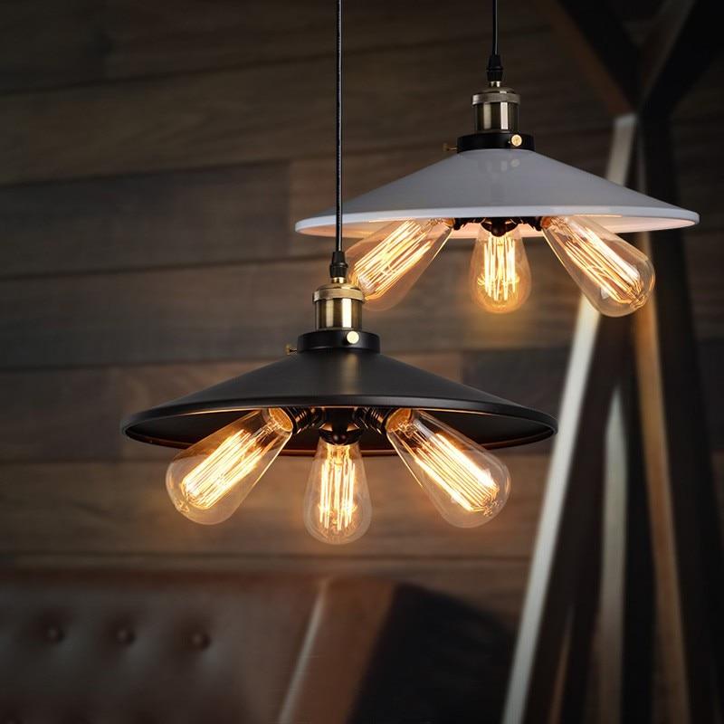 Rustic Style Pendant Light Antique Restaurant Coffee Shop Black Pendant Lamp Creative Hotel Residential Lighting Pendant Lamps villas superb residential style