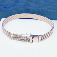 Fashion Jewelry Rose Gold Reflexions Bracelet For DIY Reflexions Charm Bead