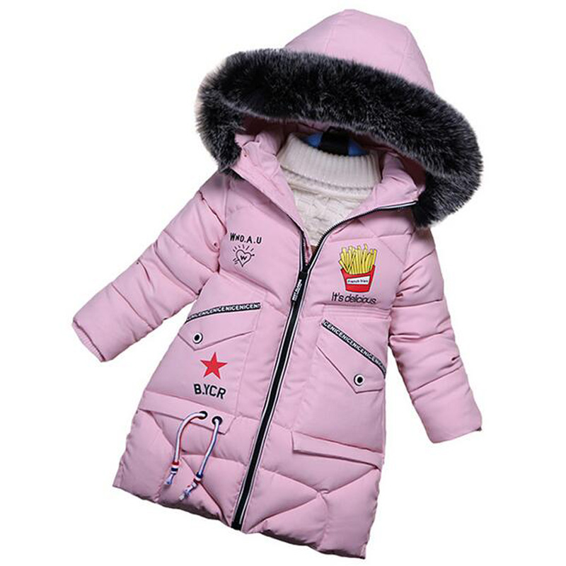 2017 Winter Children Clothing Food Print Girl Jacket Coat Boys Warm Padded Outerwear Kids Snow Suit High Quality children winter coats jacket baby boys warm outerwear thickening outdoors kids snow proof coat parkas cotton padded clothes