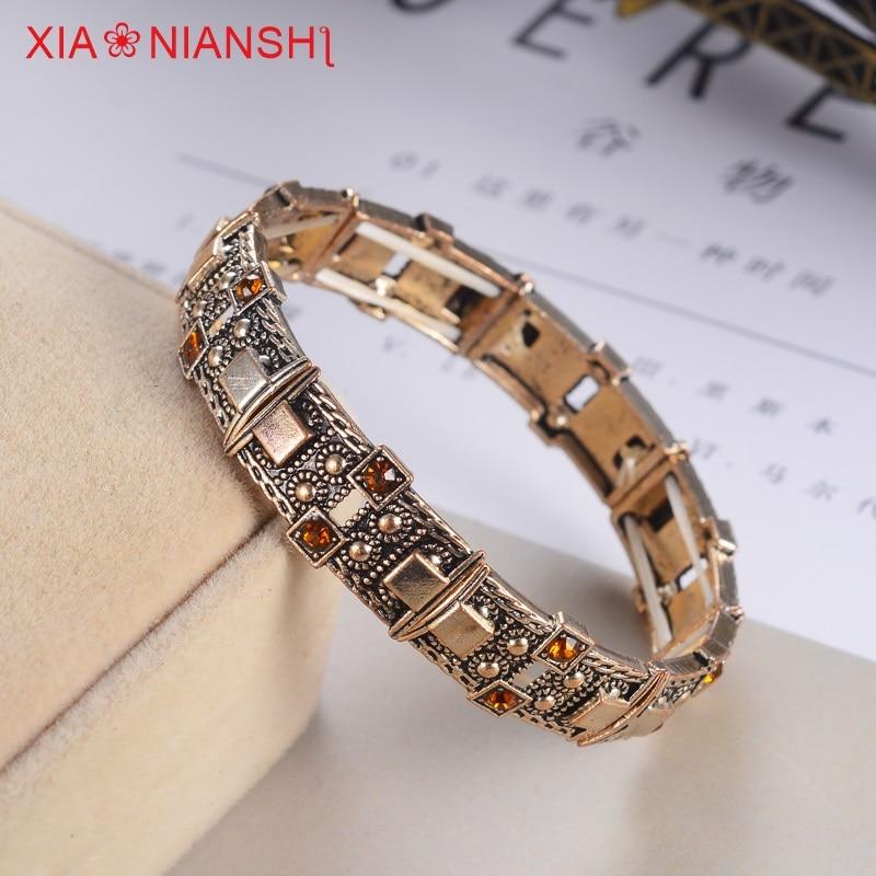 XIAONIANSHI Nueva originalidad antigua pulsera de plata y oro - Bisutería - foto 4