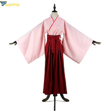 цена на Sakura Saber Kimono Okita Souji Costume Fate Grand Order FGO Cosplay Japanese Anime Cosplay Red Costume