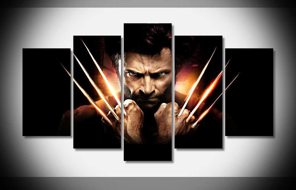 2727 x men origins wolverine movie Poster Framed Gallery wrap art print home wall decor wall picture Already to hang digital