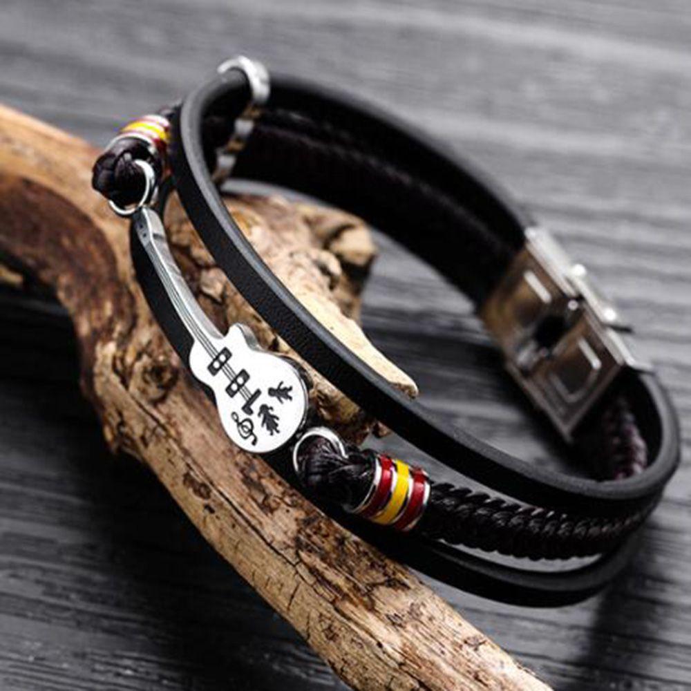 bracelet cuir guitare