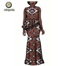 купить 2019 spring women dress african print AFRIPRIDE sleeveless Straight dress ankara print dashiki bazin riche  pure cotton S1825048 по цене 3681.22 рублей