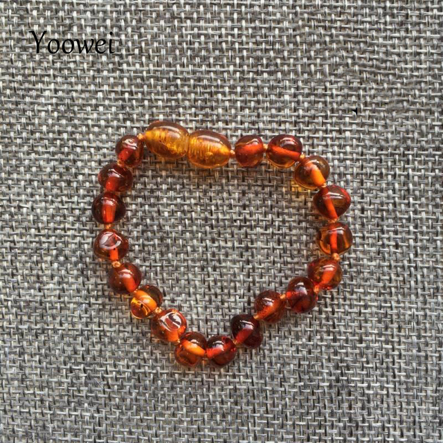Yoowei Baby Teething Amber Bracelet for Boys Girl Best Women Ladies Gift Natural Baltic Amber Jewelry Adult Anklet Sizes 13-23cm 2