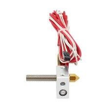 MK8 Ekstruder Sıcak End Kiti DIY Sıcak Sonu + Isıtıcı Kartuş Alüminyum Isı Blok 3D Yazıcı Parçaları 1.75mm 0.4mm