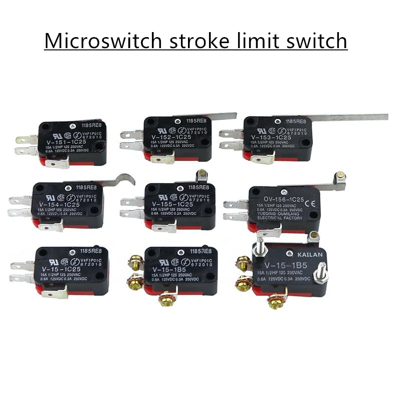 Microswitch stroke limit switch V-15-1C25 / V-151-1C25 / V-152-1C25 / V-153-1C25 / V-154-1C25 / V-155-1C25 / V-156-1C25 V-15-1B5