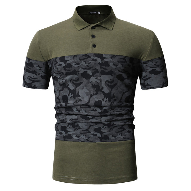 7335f5aa3 2019 Summer Brand Men's Polo Shirt Short Sleeve Slim with Button Camouflage juventus  Men Polo T Shirts Clothing Blouse-in Polo from Men's Clothing on ...