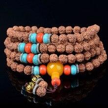 Unique Tibetan 108 rudraksha beads mala bracelet for women yoga jewelry rudraksha mala beads necklace men casual