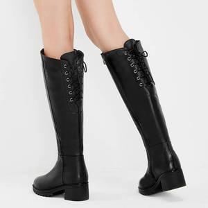 Image 4 - MORAZORA bottes de neige pour femmes, en cuir véritable, bottines hautes, chaudes et naturelles, bout rond, hiver, 2020