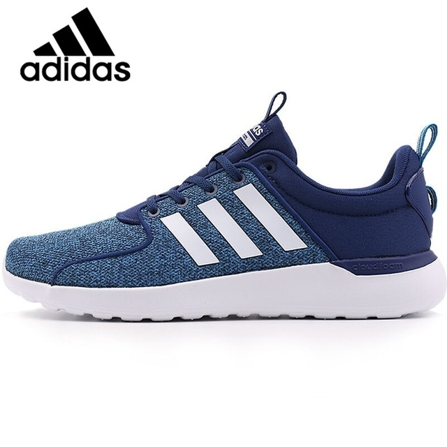 Original Adidas NEO Label LITE RACER Men's Skateboarding Shoes Sneakers Breathable Anti Slippery Hard Wearing mens shoes AW4031