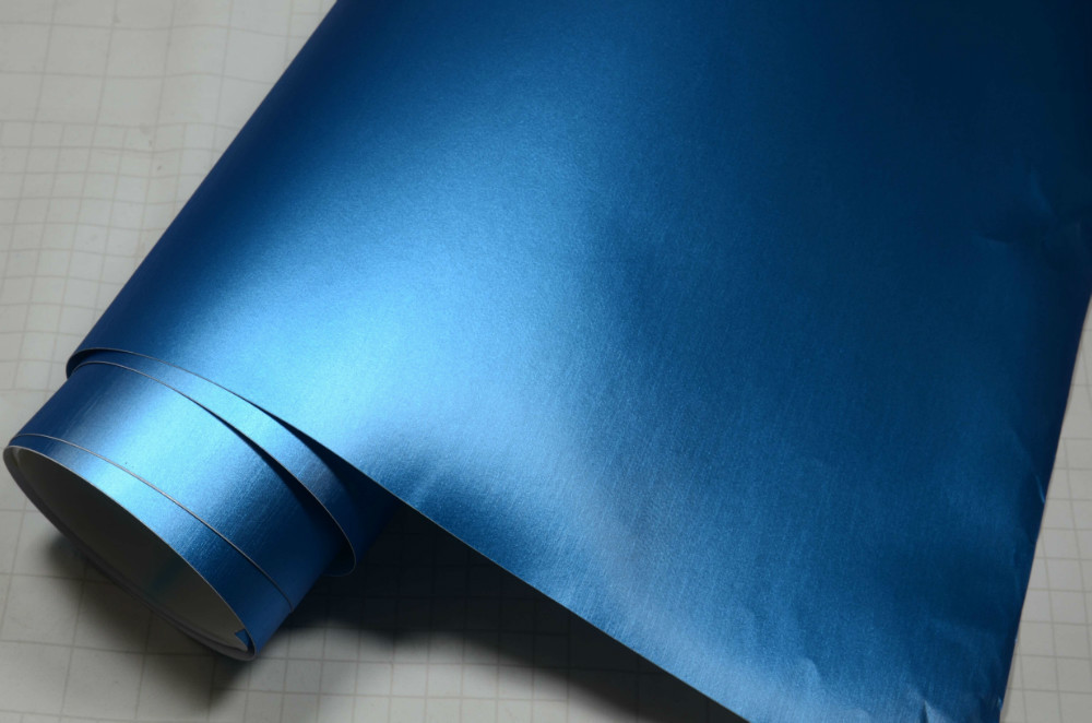 Китай Мечта Премиум Металлик 1.52x20m синий цвет матовый матовый хром винил матовый хром стайлинга автомобилей фильм