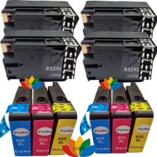 10 Compatible ink cartridges for HP 932 933 XL Officejet 6100 ePrinter - H611a / OfficeJet 7610 7612 Wide Format e-All-in-One цена 2017
