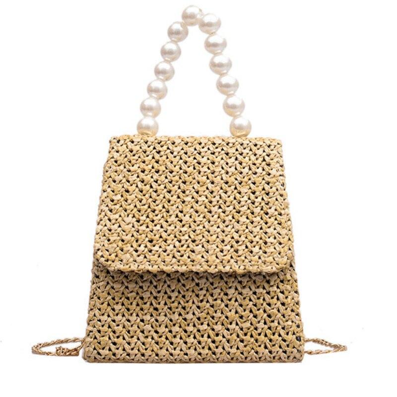 Summer Beading Straw Shoulder Bag Handbag High Street Fashion Party Elegant Tote Crochet SatchelSummer Beading Straw Shoulder Bag Handbag High Street Fashion Party Elegant Tote Crochet Satchel