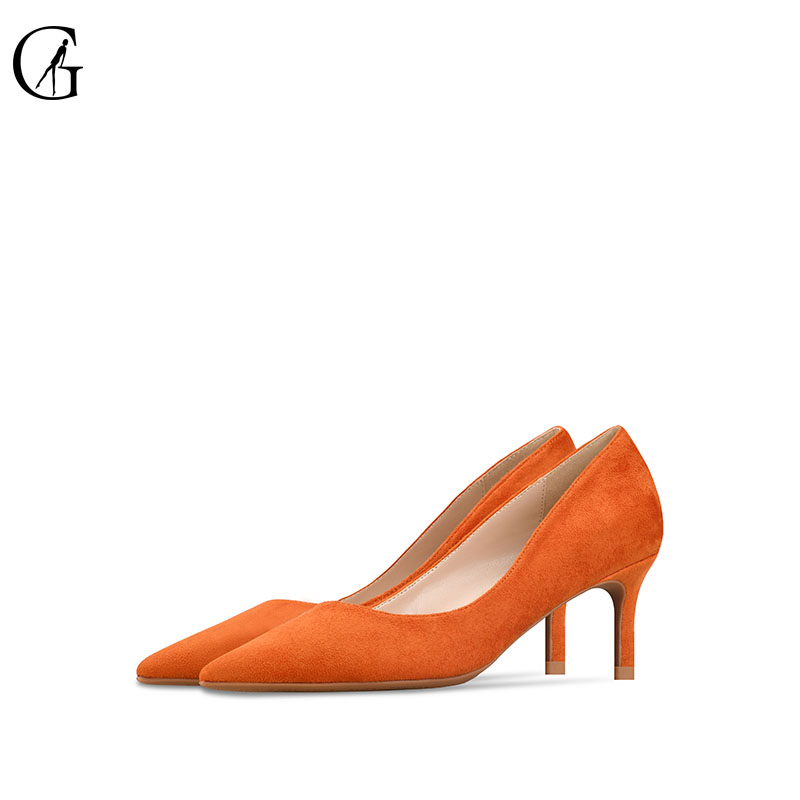 GOXEOU 2019 Shoes Women 6cm Pointed Toe Stiletto Heels sexy Pumps Ladies Stylish High Heels Shoes