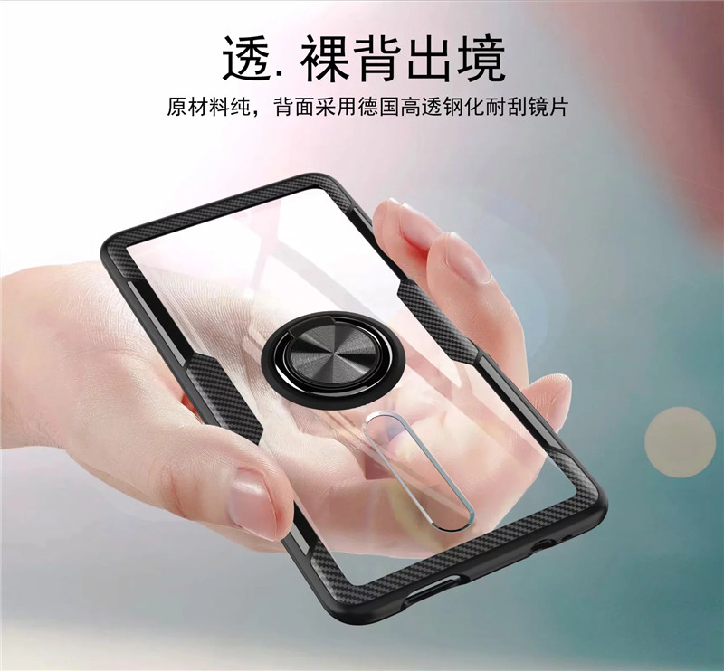 HTB1L1neXFP7gK0jSZFjq6A5aXXaP Tempered Glass Case For Redmi K20 Note 7 8 Clear Armor Cover For Mi Note 10 CC9 PRo A3 Lite 9T Mi9T 9 SE Metal Ring Holder Coque