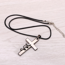 Death Note Black Gold Metal Necklace Cross Logo Pendant
