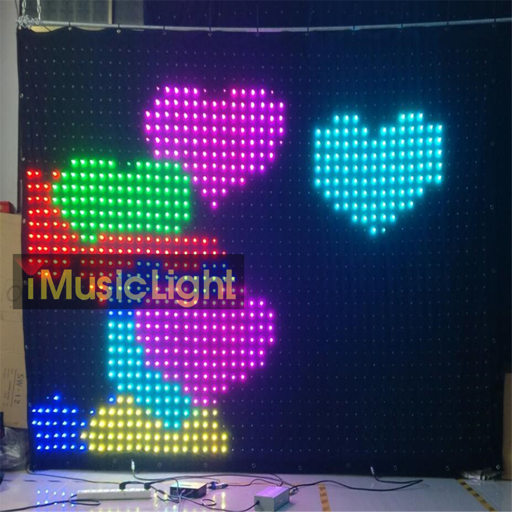 US $1384 77 7% OFF|P6CM 2M*3M Soft Mesh Cloth Video Flexible Led vision  Curtain Screen PC/DMX Control-in Stage Lighting Effect from Lights &  Lighting