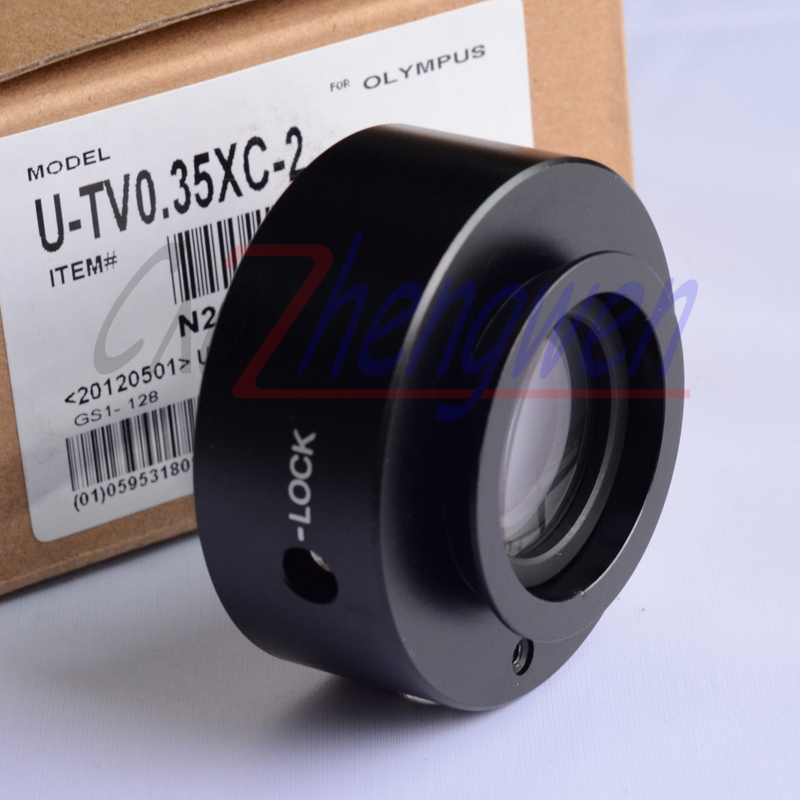 цена на FYSCOPE Hot Sale! CE, ISO ,Professional UTV-0.35X C-Mount adapter /Olympus Microscope Adaptor BX, CX