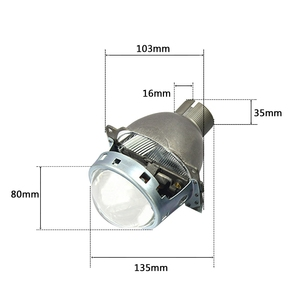 Image 5 - 2pcs 3.0 inch H4Q5 Bi xenon hid Projector lens metal holder D2S D2H xenon kit bulb headlight H4 model car styling Modify